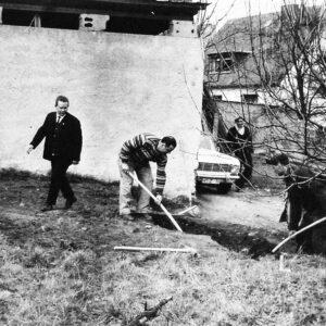 Historisches Foto Bauarbeiter 1965