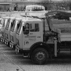 Historisches Foto Fuhrpark 1972