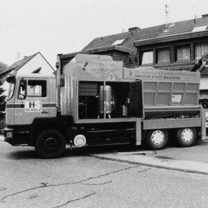 Historisches Foto Saugbagger 1997