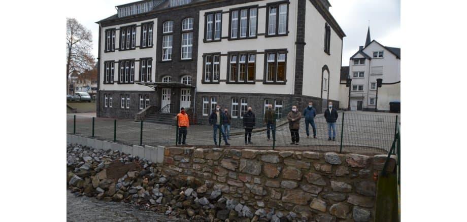 Foto Bauleitung Clemensschule am Habsburgring in Mayen